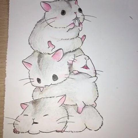 萌萌哒的小仓鼠表情包