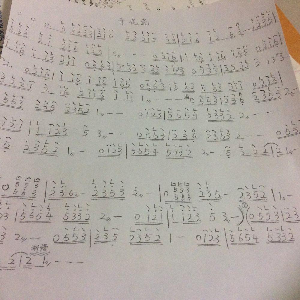 歌谱简谱网歌谱老同学-天下同古筝曲谱