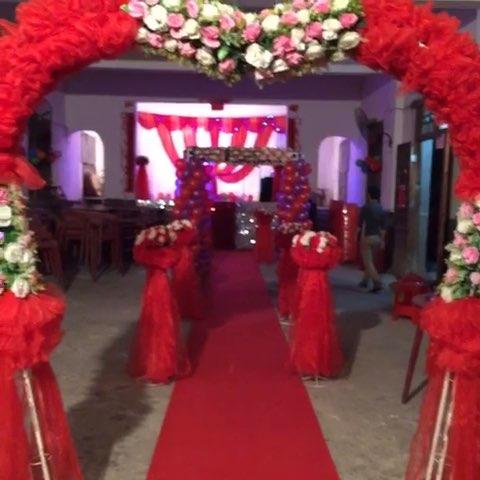 喜庆大红色婚礼布置!