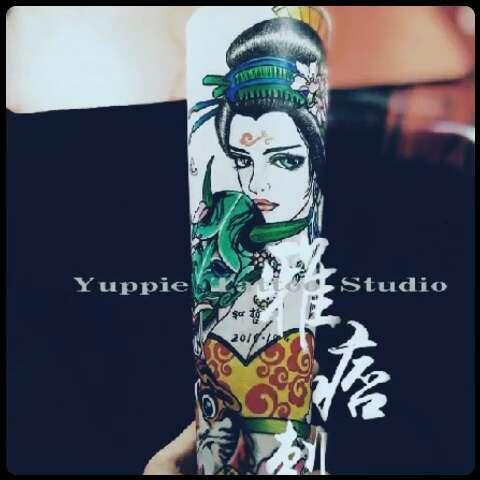 纹身店##纹身手稿##纹身图案##刺青##艺妓##原创#雅痞哲原创艺妓系列.