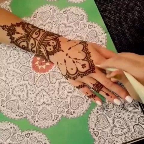 印度海娜手绘#海娜风格书签