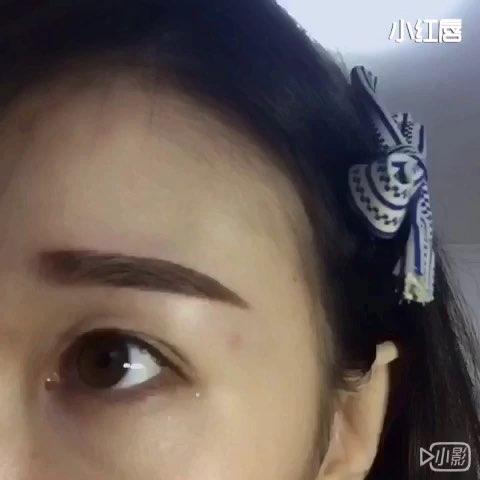 韩式一字眉画法分享图片