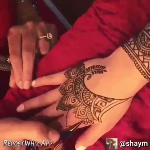 印度海娜手绘##汉娜手绘#蕾哈娜同款