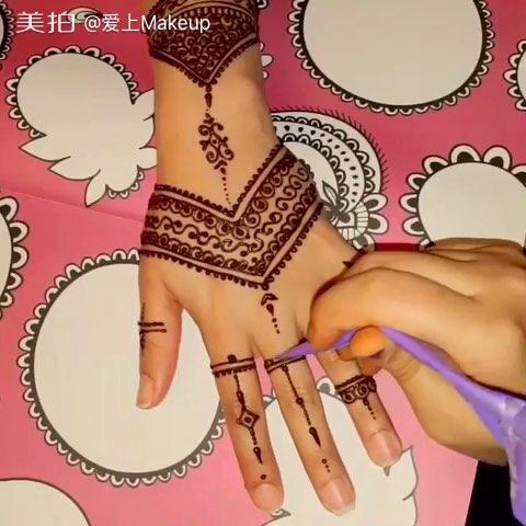 印度海娜手绘##曼海蒂##手绘曼海蒂##时尚曼海蒂##我