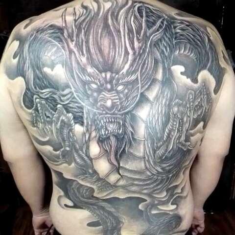 原创过肩虎 - 佛魔堂纹身的美拍图片