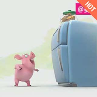 一只执着于吃的猪!