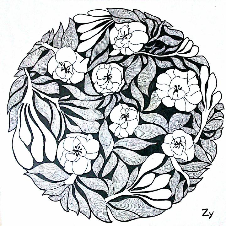 黑白装饰画# 植物装饰画,比较简单朴素