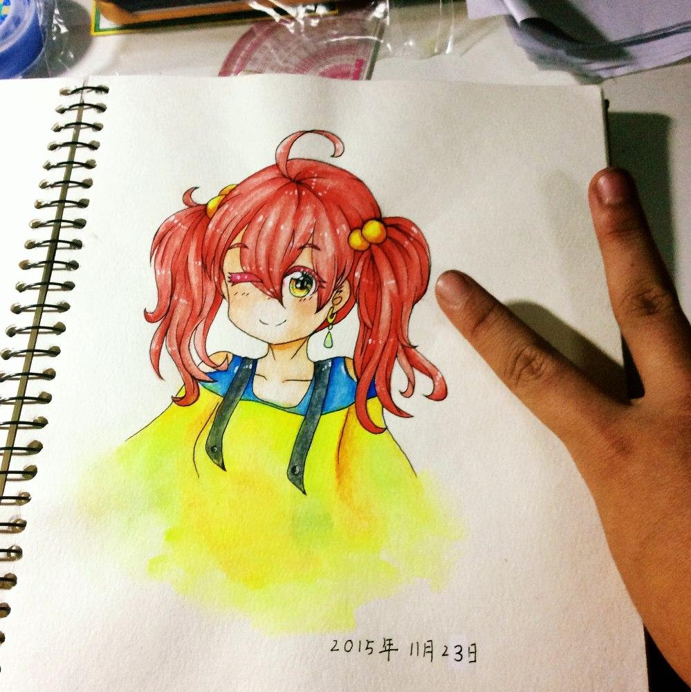 马克笔手绘##绘画# - 茵纸的美拍
