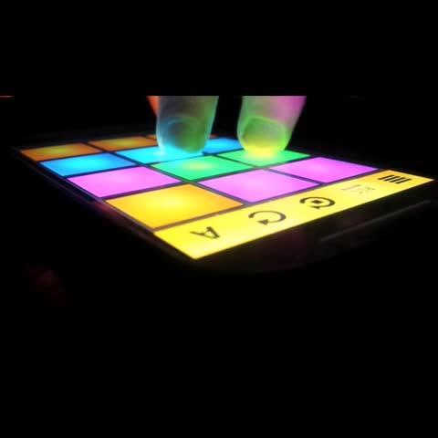 drum pads紫色的谱子