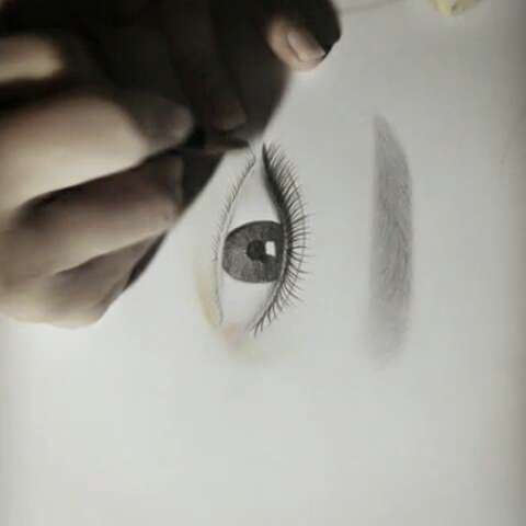 眉眼手绘#一对漂亮的眉毛眼睛