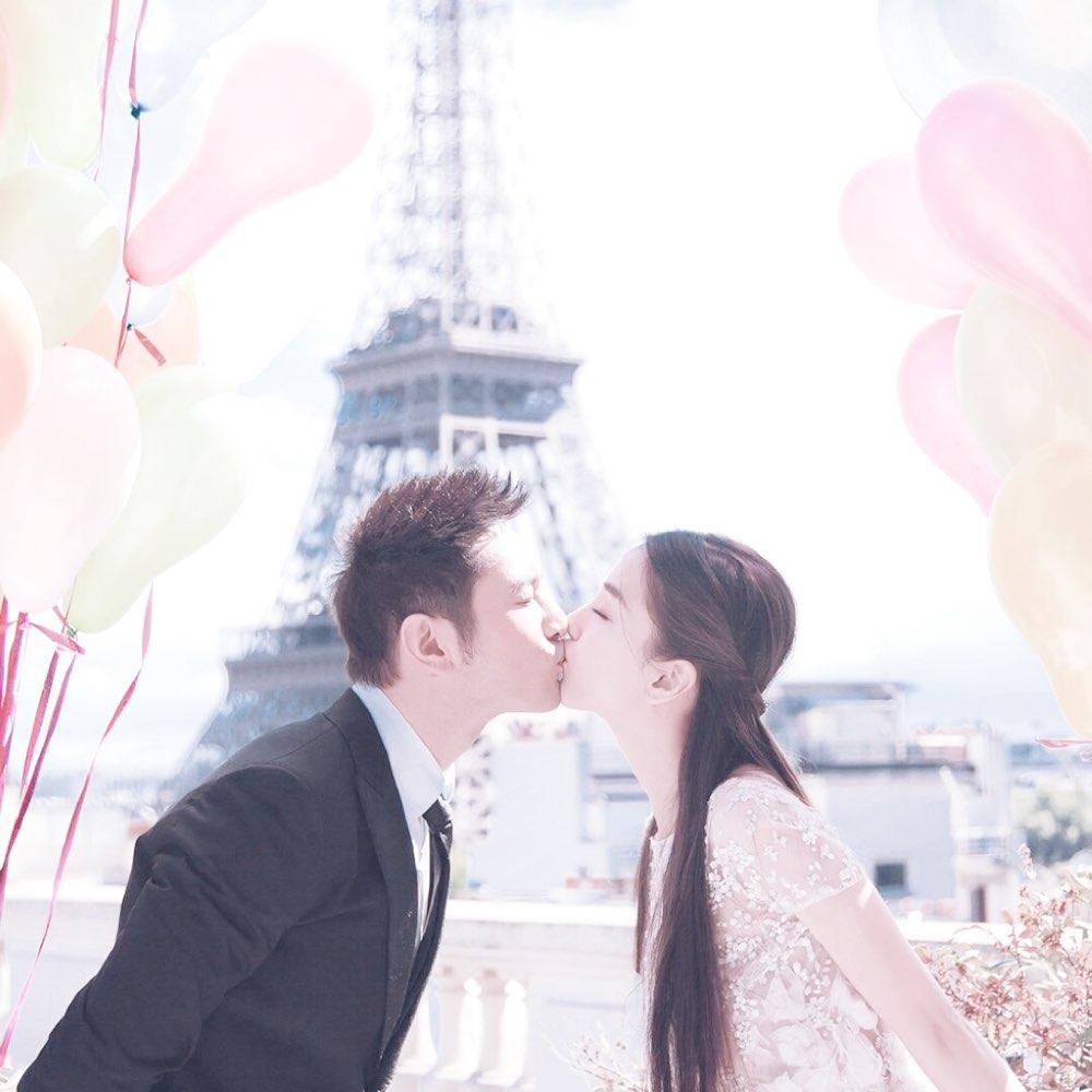 杨颖的结婚背景有埃菲尔铁塔的图片