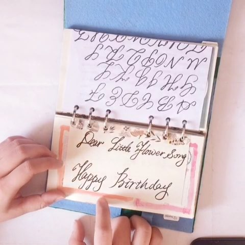 英文圆体(大神请忽略)教学:i love you 和thank you 的写法图片