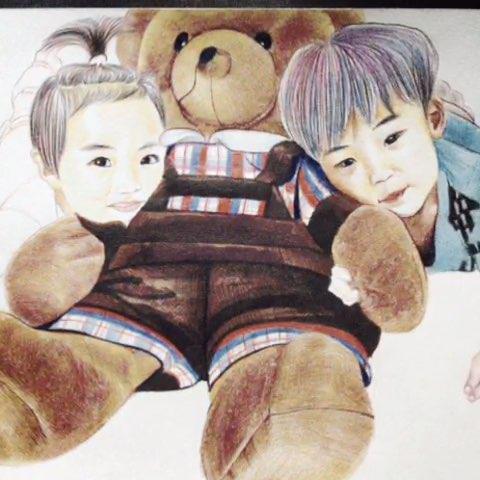 画的客户小孩#人物彩铅手绘