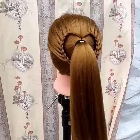 编心形发型扎法图解