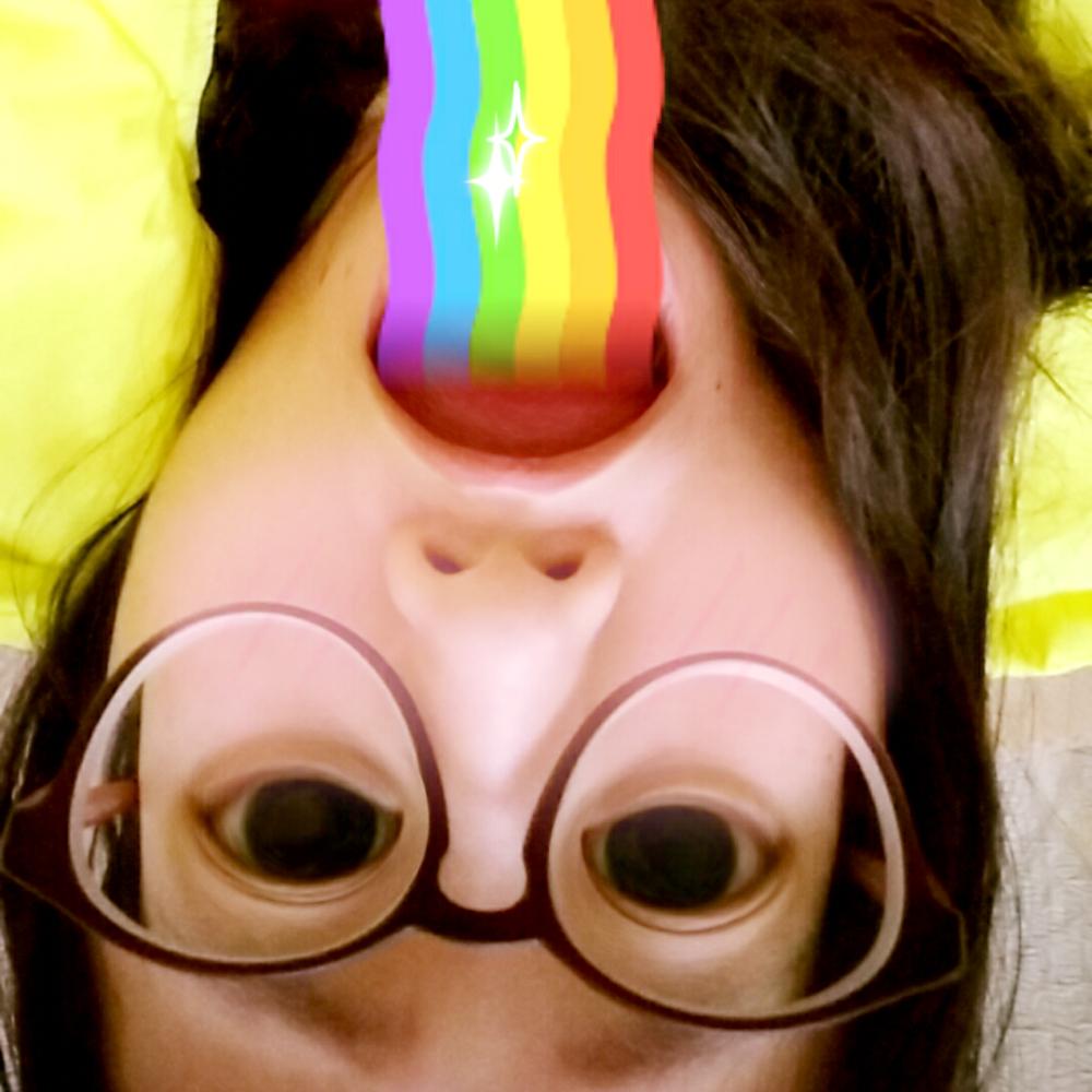 faceu##全民吐彩虹#玩上瘾啊图片