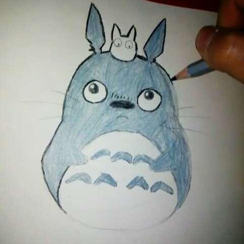 手绘彩铅画#决定画一叠龙猫