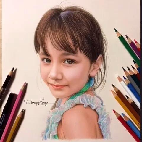画画##手绘##彩色铅笔画