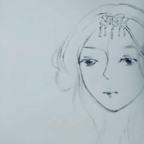 圆珠笔手绘#第一次边拍边画,画得不好请见谅.