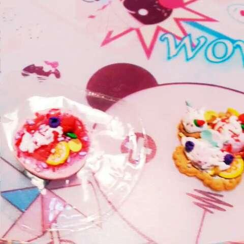 花朵冰淇淋拼盘和草莓可丽饼 (*ΦωΦ*)>#超轻粘土蛋糕