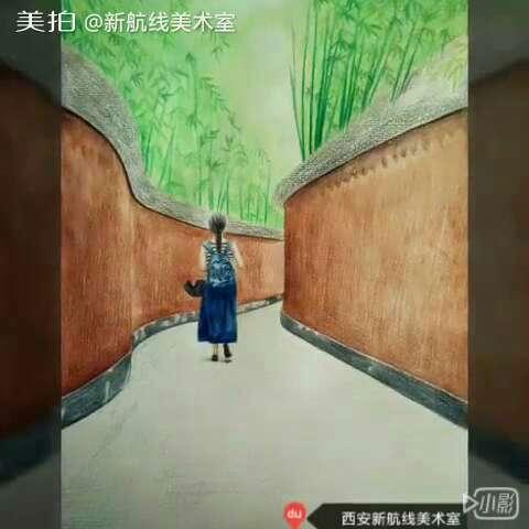 画画##手绘彩铅画##人物彩铅手绘#淘宝店铺新航线美术室