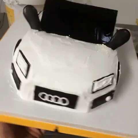 美食##蛋糕#奥迪车车小蛋糕
