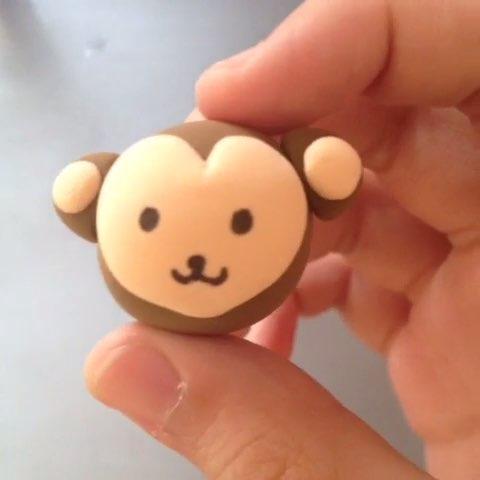 猴子##超轻粘土手工大赛##猴年吉祥物#猴子~不喜勿喷!