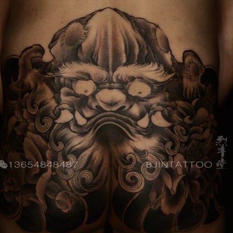 包臀唐狮子#烈丰堂刺青社## 内蒙古纹身##包头纹身##北京纹身##上海
