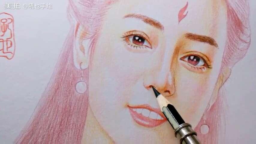 三生三世十里桃花##彩色铅笔画##吼也手绘#查看原图