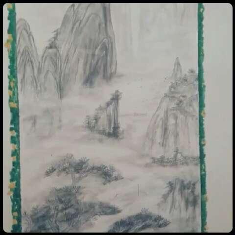 初中生山水铅笔画图片