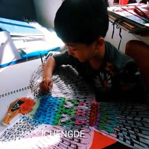 【阿尔法美术】宋浩宇 三年级 水粉手绘风筝……欢迎加入我们的团队