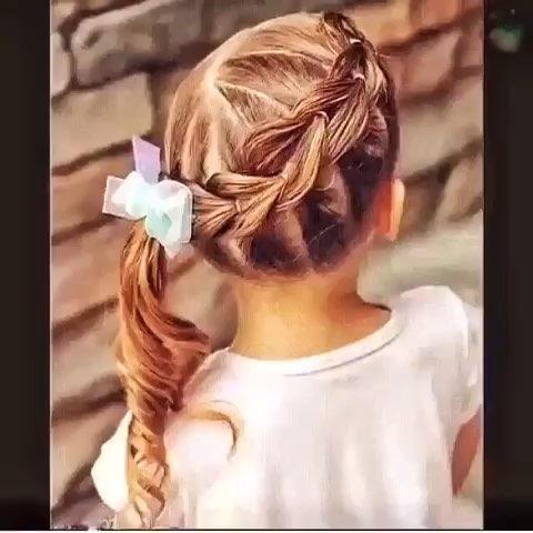 时尚 编发 儿童发型 时