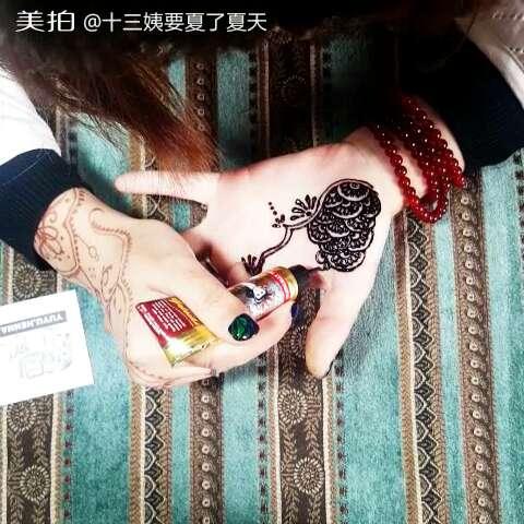 我要上热门##印度海娜手绘##成都印度汉娜手绘##手绘曼海蒂##henna