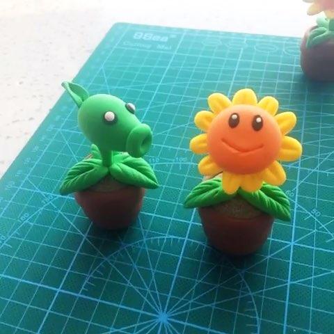 僵尸系列1# 超轻粘土 教程#第一波最简单基础-超轻黏土植物