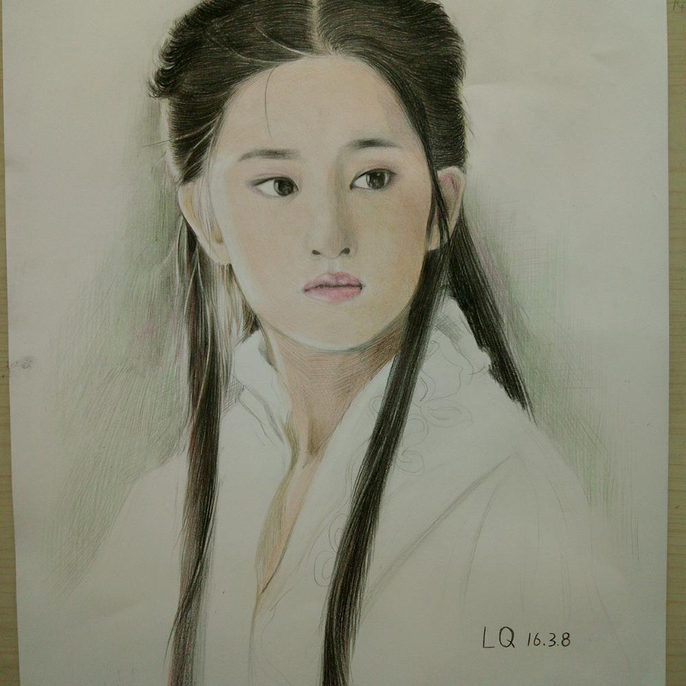 刘亦菲最新图片手绘