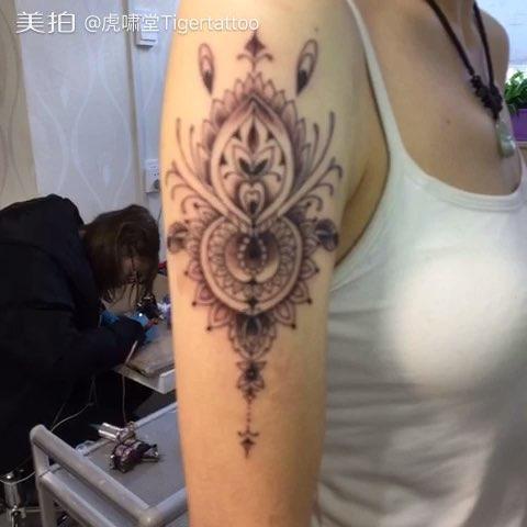 烟台虎啸堂纹身##纹身#印度海娜纹身