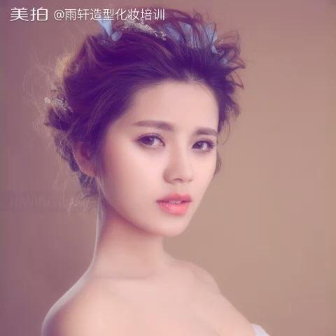3月【时尚新娘造型高级研修班】短发丸子头发型 专业化妆造型培训图片