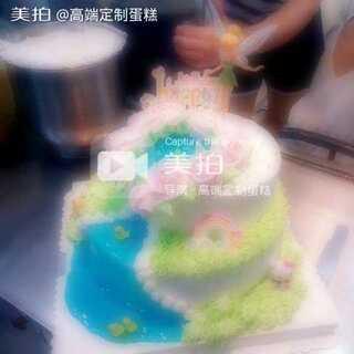 今天是自己的生日啦!#蛋糕#😝 一直想要一个特别少女心的蛋糕,今日心满意足! #生日快乐##美食##自制美食##美食甜品##我要上热门##我要上广场#