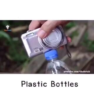 微博上蛮火的一段塑料瓶DIY教程#生活百科##涨姿势#