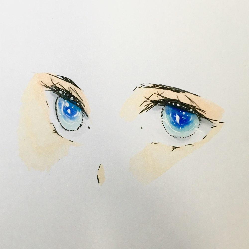 昂,手绘眼睛#动漫手绘眼睛# #马克笔