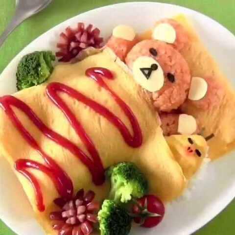 转发#美食##日本##便当##拉拉熊#-视频美食顾佳斌美食家图片