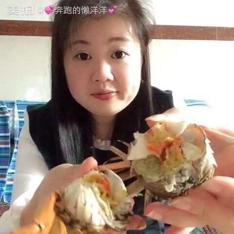 再来一个,螃蟹肉很a螃蟹#走哪吃哪##吃秀##大独舞视频现代图片