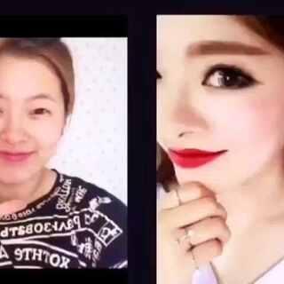 大变身全集😝😝😝让你三分钟看完😂😂😂#微笑##神奇化妆术##韩国化妆##化妆达人#