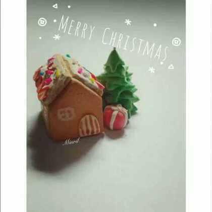 #Miurilの童话味蕾#圣诞节特供姜饼屋#手工##圣诞节手工diy#@AlLTO爱乐陶 提前祝小可爱们圣诞愉快Merry Christmas🎉