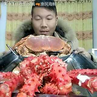 #我是吃货我自豪#帝王蟹面包蟹