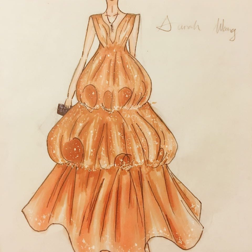 短裙子设计图手稿