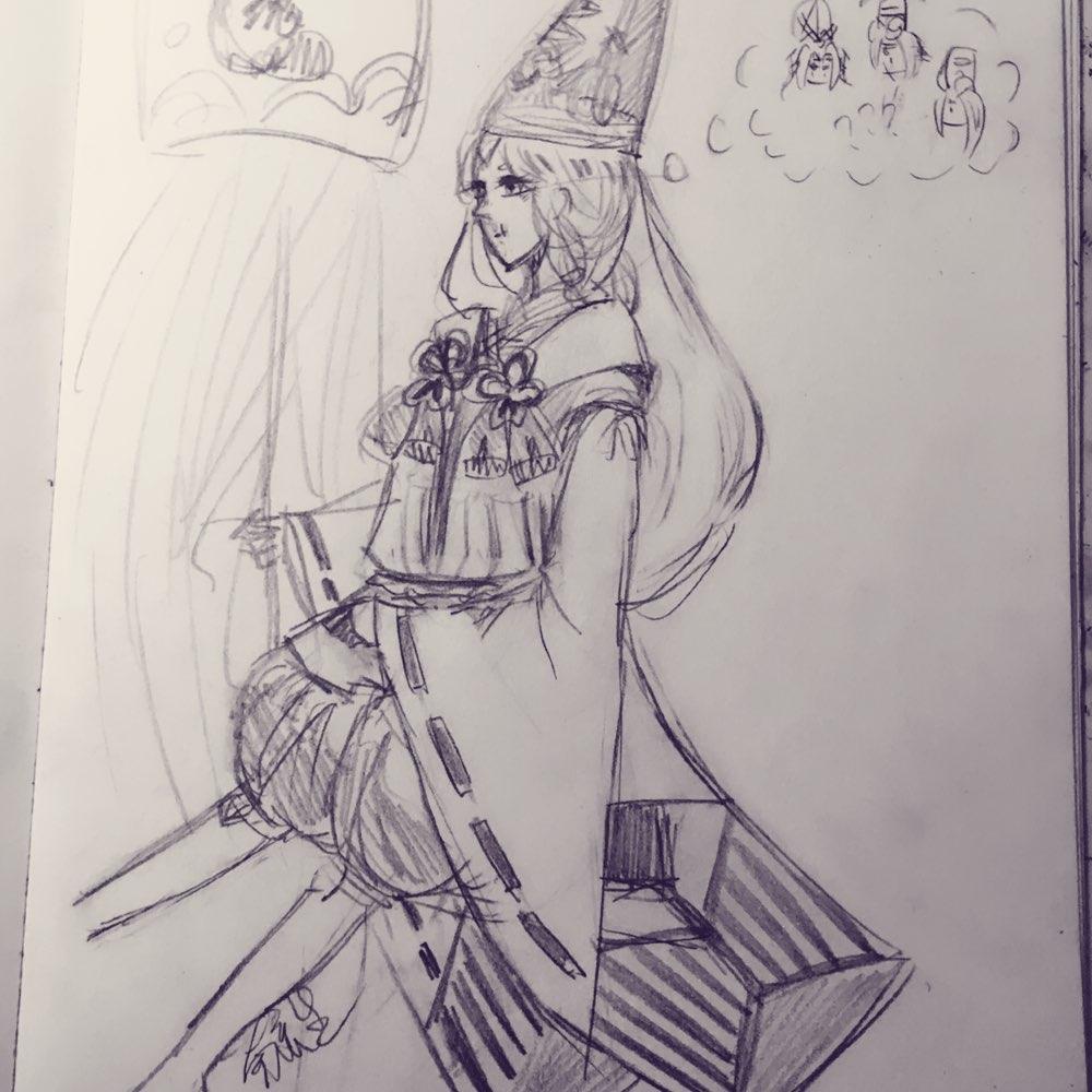 阴阳师黑白童子手绘