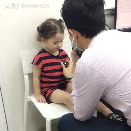 这一个多星期,凌晨的时候momo就开始咳嗽,没有痰。今天带她去诊所看了医生,医生说可能是鼻涕回流。