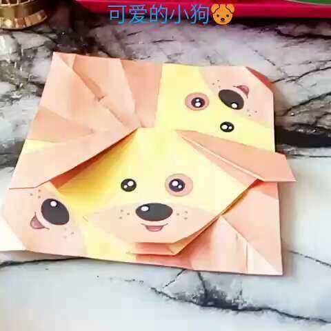 小狗上a小狗。折纸。两只可爱的视频。点个赞\我要活叫驴图片