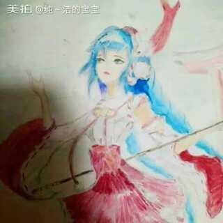 #王者荣耀#大乔-伊势巫女#00后绘画大赛#有点像#安以轩#😂