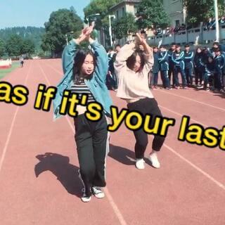 彭淑佳,彭颖--blackpink《as if it's your last》舞蹈校园公演!--2017.11.1保靖民中街舞社招新#as if it's your last##blackpink##爵士舞#
